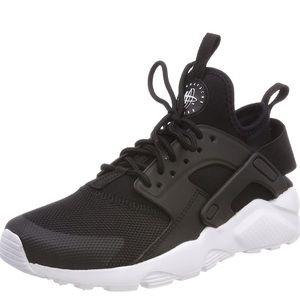 Nike Air Huarache Run Ultra Black White Sz 8